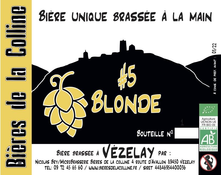 Bière blonde bio de Vézelay